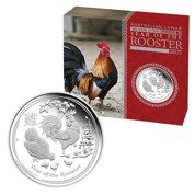 Rok Koguta (Year of the Rooster) 1 Uncja Srebra Proof High Relief Coin 2017 rok