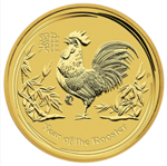 Rok Koguta (Year of the Rooster) 1/10 Uncji Złota