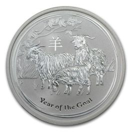 Rok Kozy (Year of the Goat) 1/2 Uncji Srebra