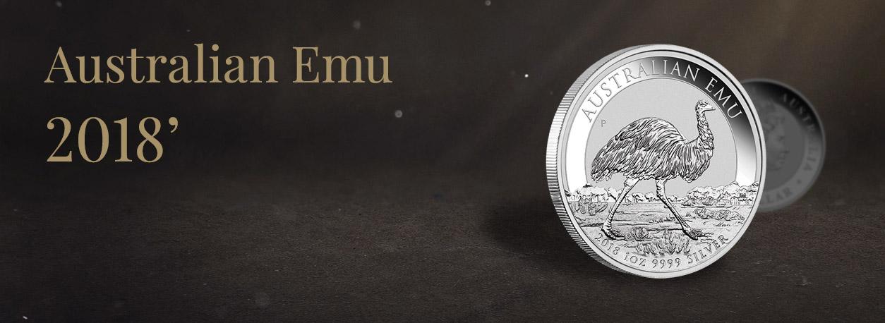 Nowa moneta Australijski Emu 1 uncja 2018 w Metal Market Europe