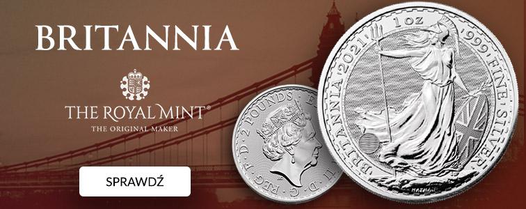 Britannia 1 uncja Srebra 2021