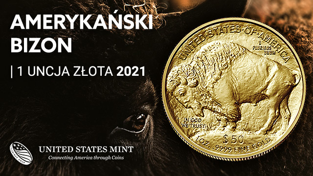 Amerykański Bizon 1 uncja Złota 2021