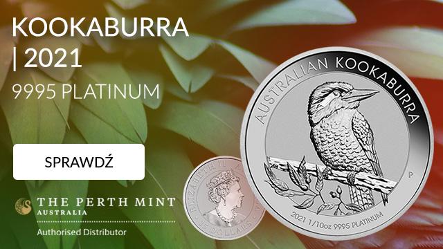 Kookaburra 1/10 uncji Platyny 2021