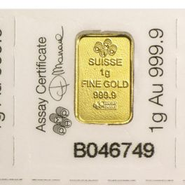 1 gram Gold Bar Pamp Fortuna Łamane