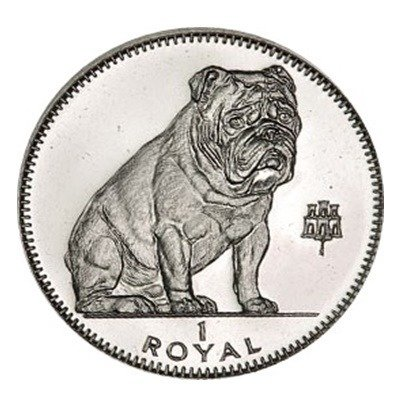 Gibraltar Royal: British Bull Dog 1 Uncja Srebra 1996 rok Proof