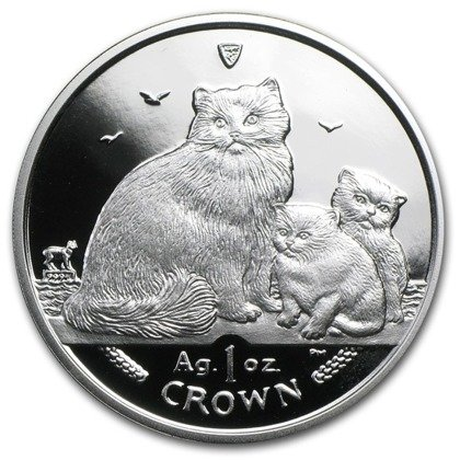 Isle of man Seria koty: Ragdoll 1 Uncja Srebra 2007 Proof