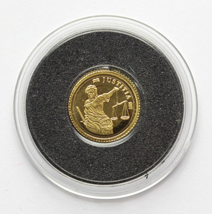 Iustitia 0,5 g Złota 2007 Proof
