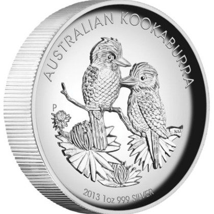 Kookaburra 1 uncja Srebra PROOF High Relief 2013