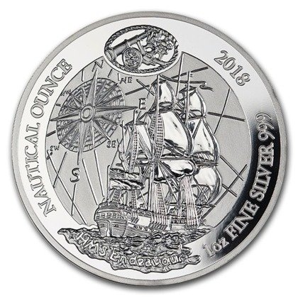 Nautical Ounce: HMB Endeavour 1 uncja Srebra 2018 Proof