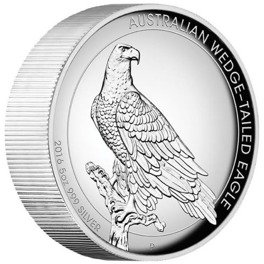 Orzeł Australijski (Wedge-Tailed Eagle) 5 Uncji Srebra High Relief 2016 rok