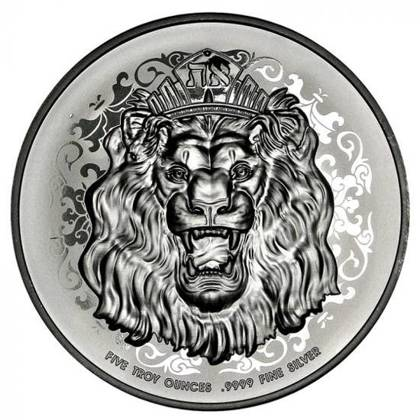 Roaring Lion 5 uncji Srebra 2021 High Relief