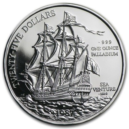 Sea Venture 1 uncja Palladu 1987 Proof
