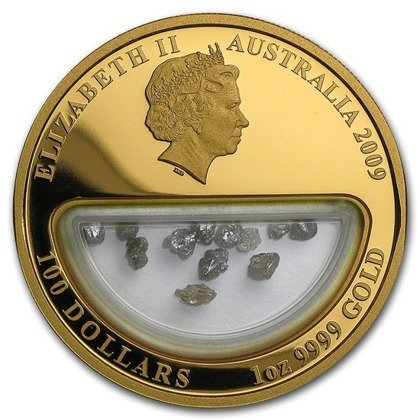 Skarby Australii: Diament 1 uncja Złota 2009 Proof