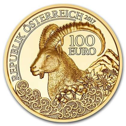 Wildlife in our Sights: Koziorożec 100 Euro 2017 Proof