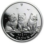 Isle of man Seria koty: Shorthair  1 Uncja Srebra 2006 Proof